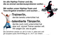 Trainer/in für HipHop, Breakdance etc. gesucht